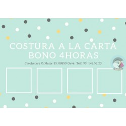 Bono costura a la carta 4 horas